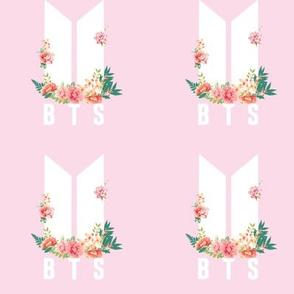 Pink BTS floral logo