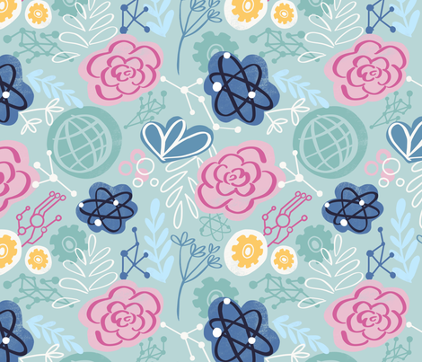 STEM and stems fabric by pacalart on Spoonflower - custom fabric