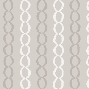 Connections: Warm Gray Abstract Stripes, Chains