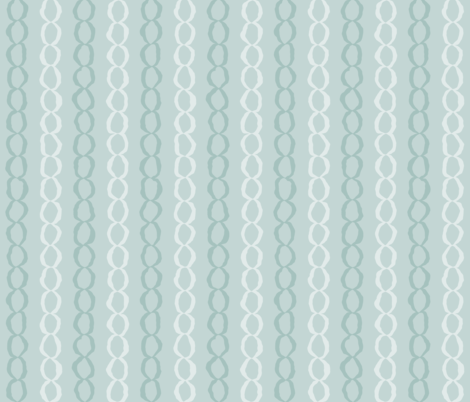 Connections: Watery Blue Green Abstract Stripes, Chains fabric by dept_6 on Spoonflower - custom fabric