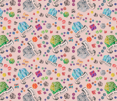 High Roller - Tattoo_small repeat fabric by kfrogb on Spoonflower - custom fabric
