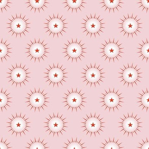 Northern Light* (Capote) || star stars starburst christmas holiday north pastel pink peppermint