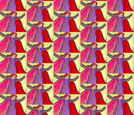 Magical Maiden fabric by valerie_d'ortona on Spoonflower - custom fabric