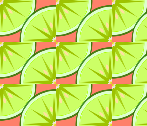 Lime Light Quarter-coral fabric by kae50 on Spoonflower - custom fabric