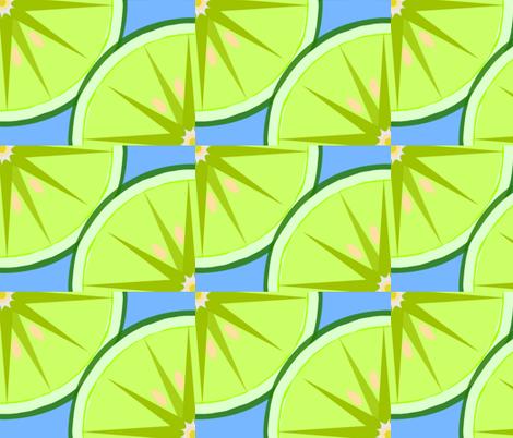 Lime Light-blue fabric by kae50 on Spoonflower - custom fabric
