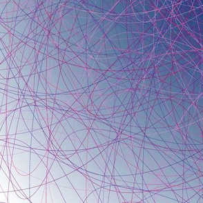 Abstract fractal blue Speiderweb