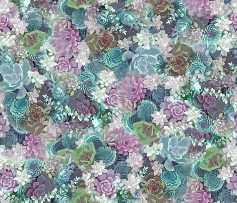 succulents fabric lilac fabric by mypetalpress on Spoonflower - custom fabric