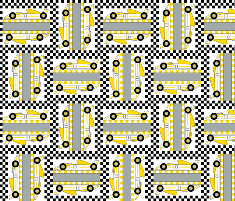Formula 1 (yellow) fabric by jjtrends on Spoonflower - custom fabric