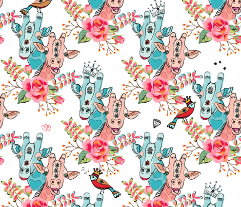 Giraffes are pretty awesome fabric by designed_by_debby on Spoonflower - custom fabric