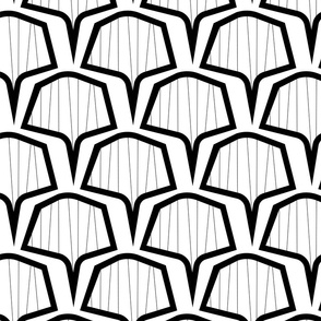 hex fan bw pattern-05