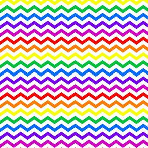 Fat Chevron - Rainbow