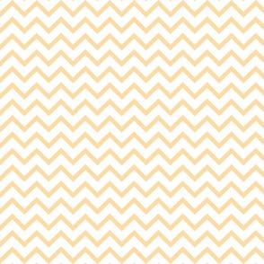 Tall Chevron - Creamy Yellow