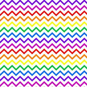 Tall Chevron - Rainbow
