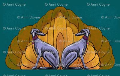 "Art deco hounds forMartingale 2"""