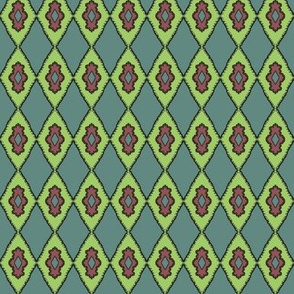 BlueGreen Damask