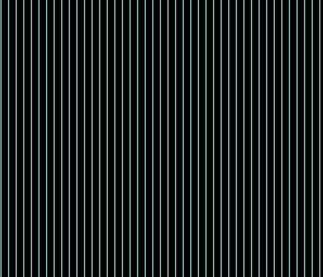 Black with Mint pinstripes fabric by elaphus_house on Spoonflower - custom fabric