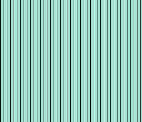 Mint black pinstripes fabric by elaphus_house on Spoonflower - custom fabric