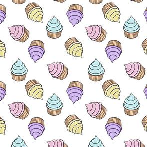 Rainbow Cupcakes, White