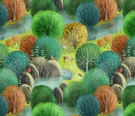 emeraldforest fabric by gaiamarfurt on Spoonflower - custom fabric