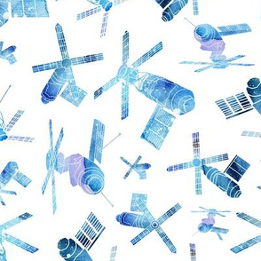 Skylab - watercolour blue