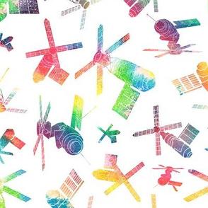 Skylab - watercolour rainbow 2