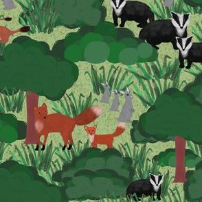 Woodland Creatures (Green)