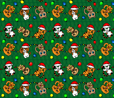 Furever Howlidays fabric by cindersonfiber on Spoonflower - custom fabric