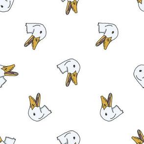 Ducks, white