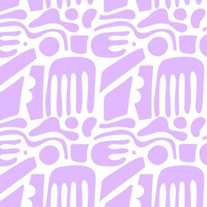 Aztec Shapes Purple