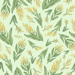 Goldenrod - green background