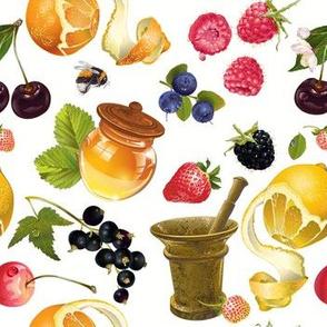 Fruit, honey & mortar