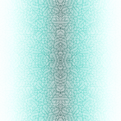 Gradient teal blue and white swirls doodles