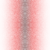 Gradient red and white swirls doodles