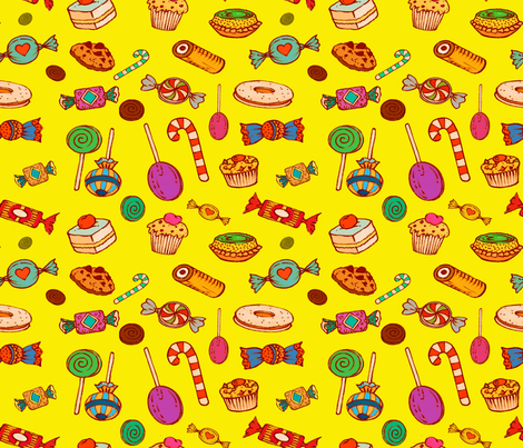 Sweet Princess (yellow)   fabric by chicca_besso on Spoonflower - custom fabric