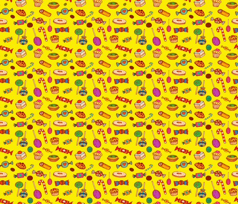 Sweet Princess (yellow)150 fabric by chicca_besso on Spoonflower - custom fabric