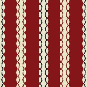 baseball stripes red multi