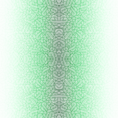 Gradient green and white swirls doodles