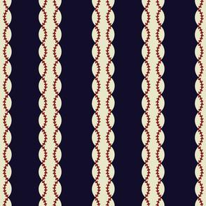 baseball stripes blue