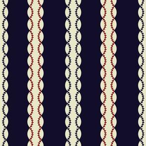 baseball stripes blue multi