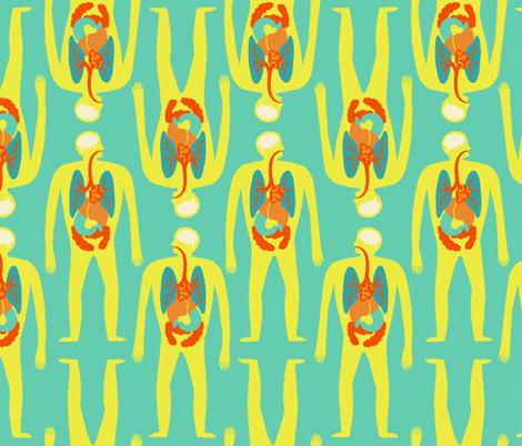 Modern Medical Illustration fabric by littleknids on Spoonflower - custom fabric
