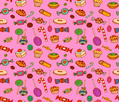 Sweet Princess (pink)   fabric by chicca_besso on Spoonflower - custom fabric