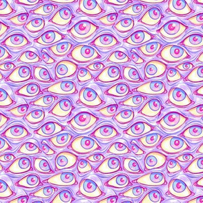 Wall of Eyes in Purple