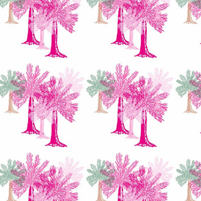 Palm Trees in magenta