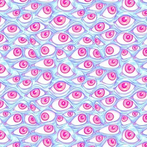 Wall of Eyes in Baby Blue