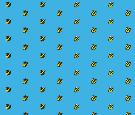 bees and blue sky fabric by lorose on Spoonflower - custom fabric