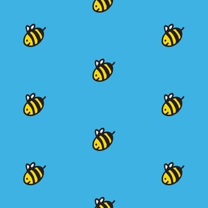 bees and blue sky