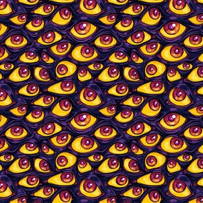 Wall of Eyes in Dark Purple