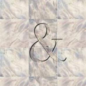 Marble ampersand handkerchief