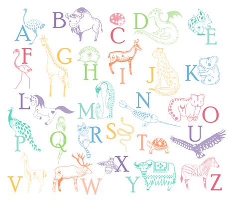 French alphabet white fabric by un_temps_de_coton on Spoonflower - custom fabric