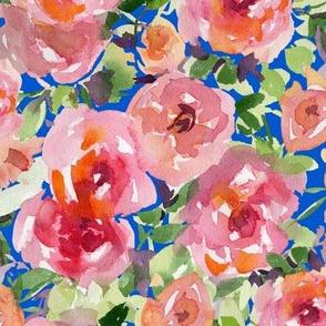 rose garden in blue